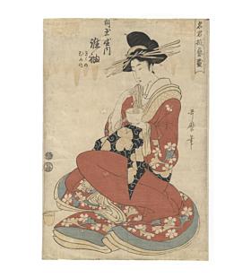 utamaro kitagawa, courtesan making tea