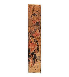 toyokuni I utagawa, fox tadanobu, kabuki play, hashira-e