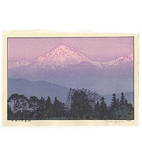 toshi yoshida, early spring, azumino mountains, landscape