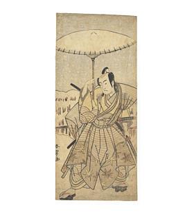 shunjo katsukawa, Kabuki Actor Holding an Umbrella, edo period, theatre