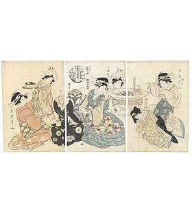 Tsukimaro Kitagawa, Courtesans, Parody of Shin Taiheiki