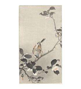 koson ohara, bird and flower, kacho-ga