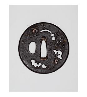 iron tsuba, japanese sword guard