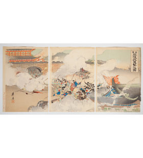 battle, senso-e, japanese history, japanese imperial army, meiji era
