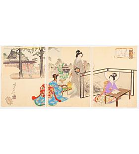 nobukazu yosai, manners, ikebana, flower arrangement, kimono design