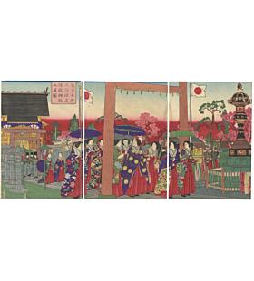 hiroshige III utagawa, tokyo, meiji