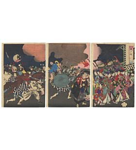 Chikanobu Yoshu, Flower of the East, Palace Evacuation, Firemen