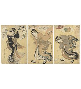 toyokuni I utagawa, beauties, edo period