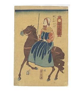 yoshitora utagawa, English Lady, Foreign People Traveling