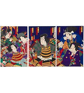 kunichika toyohara, Kabuki Play, Ehon Taikoki
