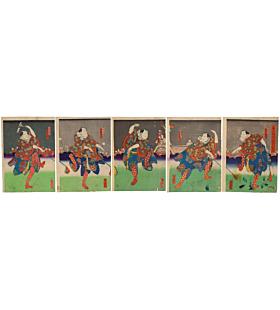 yoshitaki utagawa, Kabuki Play, Shichifukujin, Takara no Irifune, traditional theatre