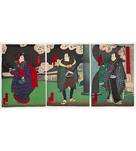 Yoshitaki Utagawa, Kabuki Play, Momochidori Naruto no Shiranami
