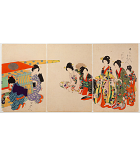 Chikanobu Yoshu, Princess Going Out, High-ranking Ladies of the Tokugawa Era