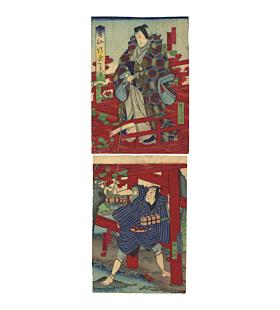 yoshitaki utagawa, kabuki theatre, osaka-e, kamigata-e