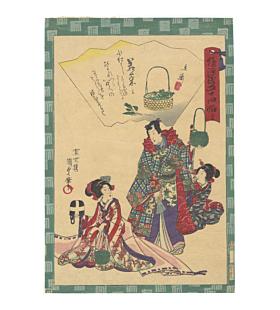 kunisada II utagawa, Tale of Genji 54 Chapters, wakana