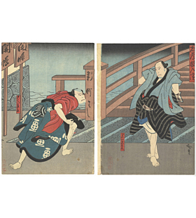 Hirosada Konishi, Dojima Sukui no Tatehiki, Kabuki Theatre Play