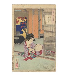 yoshitoshi tsukioka, Full Moon on the Tatami Mats, one hundred aspects of the moon