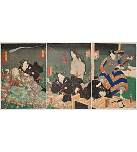 Kunisada II Utagawa, Kabuki Play, Sogamoyo Tateshi no Goshozome