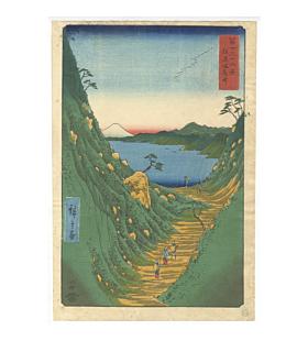 hiroshige I utagawa, Shiojiri Pass in Shinano Province, Thirty-Six Views of Mount Fuji