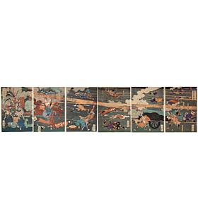 yoshitoshi tsukioka, Battle of Kawanakajima, The Battle of the Brave Generals of the Takeda Clan, samurai, warrior