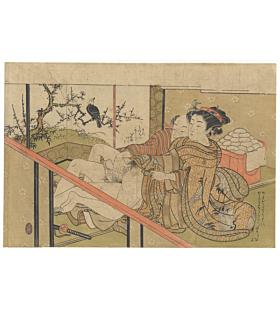 koryusai isoda, Lovers in the Night of September, shunga, erotica