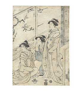 eishi chobunsai, nightingale, Twelve Illustrations of Various Birds(諸鳥十二会), beauty