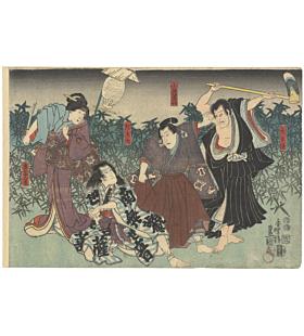 toyokuni III utagawa, kabuki theatre, japanese actors