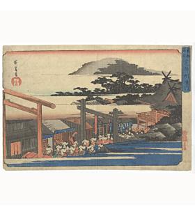 Hiroshige Utagawa, Shiba Myojin, The Famous Places in the Eastern Capital