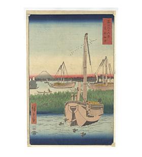 hiroshige I utagawa, Sea at Tsukuda in Edo, Thirty-six Views of Mount Fuji