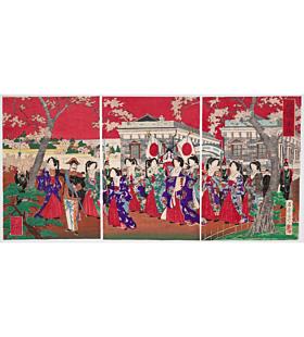 haruaki sekisai, meiji period, beauty, japanese woodblock print, ukiyo-e, japanese art, japanese antique