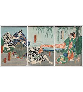Toyokuni III Utagawa, Kabuki Play, Kinoene Soga Daikoku-bashira