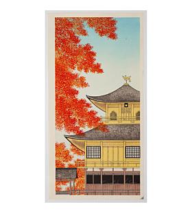 teruhide kato, Autumn at Golden Pavilion, kinkaku-ji, kyoto, contemporary art