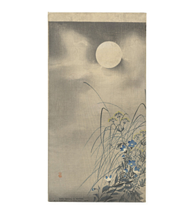 koson ohara, Moon and Autumn Flowers, seasonal