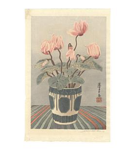 mokuchu urushibara,  Cyclamen II, flowers