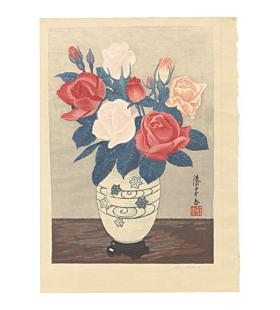 mokuchu urushibara, Roses II, flowers