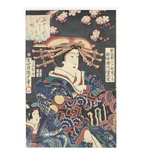 Kunisada II Utagawa, Courtesan Kodayu of the Matsumoto-ro, Shinyoshiwara