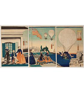 yoshitora utagawa, hot air balloon, united states of america