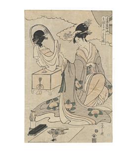 eishi chobunsai, beauty portrait, edo