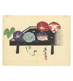 zeshin shibata, morning glories, flowers