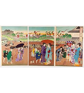 chikanobu yoshu, tanabata festival, japanese summer