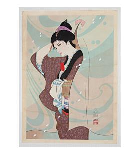 sentaro iwata, beauty print, kimono design