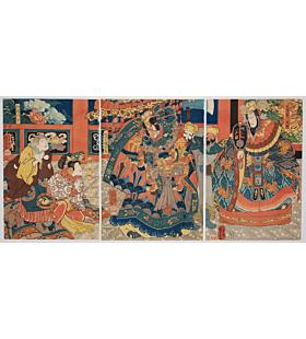 kuniyoshi utagawa, kabuki play, battles of coxinga