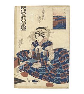 Sencho Teisai, Courtesan Mitsusode from Owari-ya Tea House, Edo Beauty