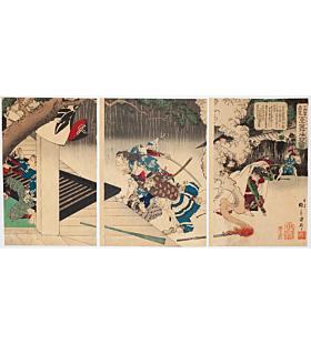 Kuniume Utagawa, Soga Brothers Attack, Hunting-ground at Fujino