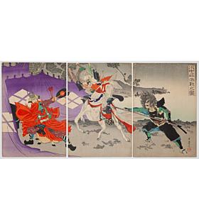 rosetsu, battle of kawanakajima, warrior, samurai
