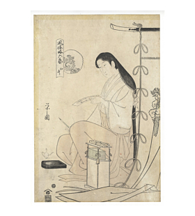 eishi chobunsai, beauty, edo, waka poem