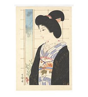 sentaro iwata, young beauty, kimono design