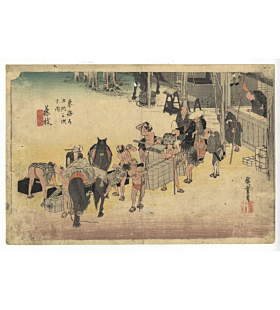 hiroshige ando, fujieda, tokaido road, travel