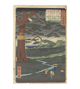 hiroshige II utagawa, miyuki no matsu, Views of Famous Places in Edo, landscape