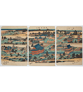 Hiroshige Ando, Kinryuzan Temple, Famous Places in the Eastern Capital